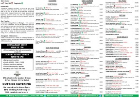 Restaurant Full Menu